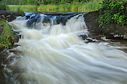 Rapids at outflow of Thunder Lake near Dryden<br /> Aaron Provincial Park<br /> Ontario<br /> Canada