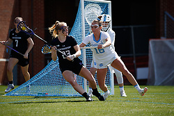 CHAPEL HILL, NC - MARCH 02: Catie Woodruff #16 of the North Carolina Tar Heels during a game against the Northwestern Wildcats on March 02, 2019 at the UNC Lacrosse and Soccer Stadium in Chapel Hill, North Carolina. North Carolina won 11-21. (Photo by Peyton Williams/US Lacrosse)