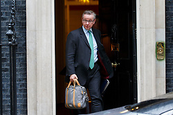 © Licensed to London News Pictures. 09/03/2016. London, UK. Justice Secretary MICHAEL GOVE leaving Downing Street to attend Prime Minister's Question Time in London on Wednesday, 9 March 2016. Photo credit: Tolga Akmen/LNP