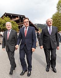 11.05.2017, Congress Centrum, Alpbach, AUT, Landeshauptleutekonferenz, Empfang, im Bild v.l. LH Josef Pühringer (OÖ), LH Josef Pühringer (OÖ), LH Günther Platter (TI), LH Erwin Pröll (NÖ) // v.l. LH Josef Pühringer (OÖ), LH Josef Pühringer (OÖ), LH Günther Platter (TI), LH Erwin Pröll (NÖ) during the Governors conference of the Austrian Provinces at Congress Centrum in Alpbach, Austria on 2017/05/11. EXPA Pictures © 2017, PhotoCredit: EXPA/ Johann Groder