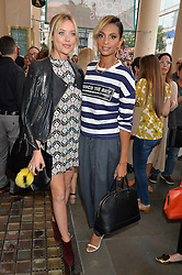 Left to right, LAURA WHITMORE and ALESHA DIXON at the opening night of Breakfast at Tiffany's at The Theatre Royal, Haymarket, London on 26th July 2016.