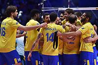 Brazil players celebrations<br /> Torino 29-09-2018 Pala Alpitour <br /> FIVB Volleyball Men's World Championship <br /> Pallavolo Campionati del Mondo Uomini <br /> Semifinal<br /> Brasile - Serbia / Brazil - Serbia<br /> Foto Antonietta Baldassarre / Insidefoto
