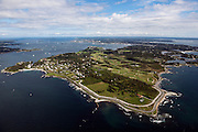 Ocean Drive Newport mansion aerial photo.