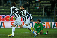 Alessandro Matri esultanza dopo il gol , goal celebration Juventus.Calcio Cagliari vs Juventus .Serie A - Parma 21/12/2012 Stadio Ennio Tardini.Football Calcio 2012/2013.Foto Federico Tardito Insidefoto