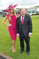 Rosanna Davison, guest judge for Anthony Ryan?s Best Dressed Lady Competition and John Moloney, Manager of Galway Races at the launch of the Anthony Ryan?s Best Dressed Lady Competition at the Galway Races Summer Festival. Photo:Andrew Downes