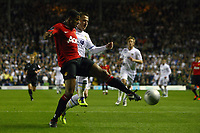 Football - Carling Cup Round Three - Leeds United vs. Manchester United<br /> Andy Keogh of Leeds and Ezekiel Fryers of Manchester United in action at Elland Road