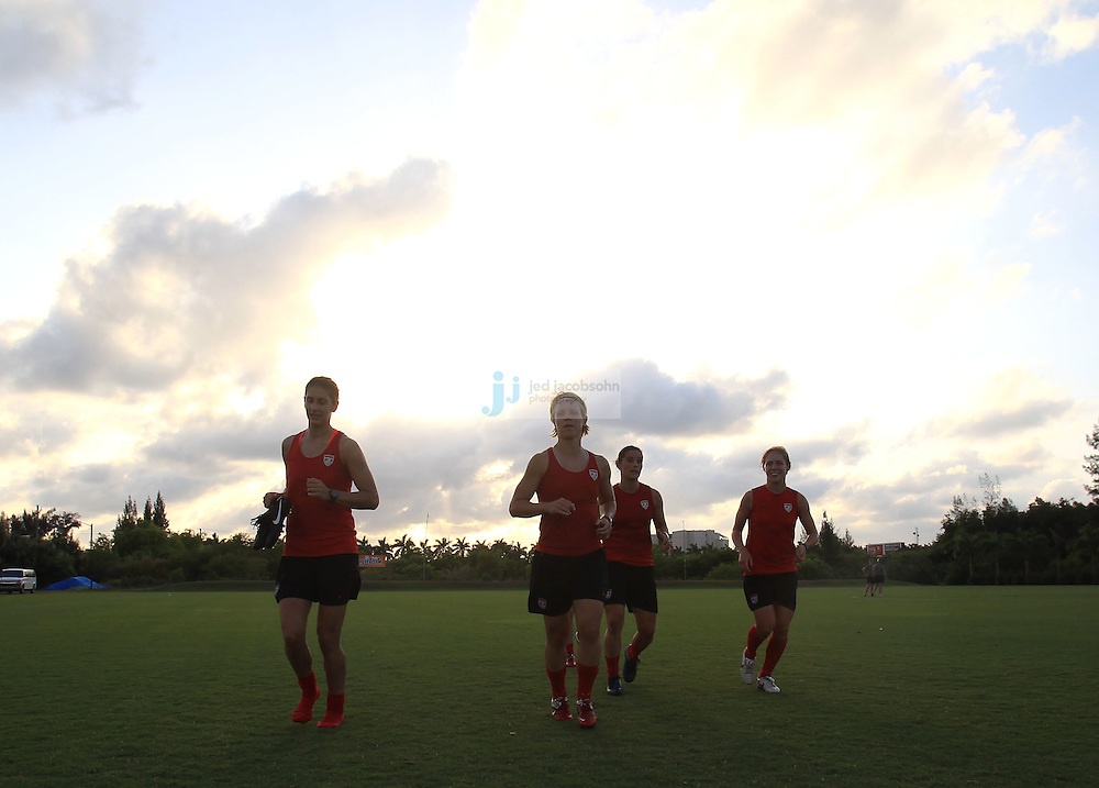 WEST PALM BEACH, FL - MAY 2:  Members of the US Women's Soccer team train in West Palm Beach, Florida on May 2, 2011.  (Photo by Jed Jacobsohn)