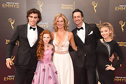 Blake Michael, Francesca Capaldi, Beth Littleford, Stephen Full, bei der Ankunft zur Verleihung der Creative Arts Emmy Awards in Los Angeles / 110916 <br /> <br /> *** Arrivals at the Creative Arts Emmy Awards in Los Angeles, September 11, 2016 ***