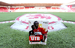 Middlesbrough put former player Ugo Ehiogu on the front cover of the match day programme for the Premier League fixture with Sunderland after his sudden death last week - Mandatory by-line: Robbie Stephenson/JMP - 26/04/2017 - FOOTBALL - Riverside Stadium - Middlesbrough, England - Middlesbrough v Sunderland - Premier League