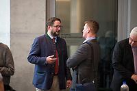 DEU, Deutschland, Germany, Berlin, 26.09.2017: Berengar Elsner von Gronow (L, MdB, AfD) vor der ersten Fraktionssitzung der AfD-Bundestagsfraktion im Deutschen Bundestag.