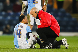 Marcus Olsson of Blackburn Rovers receives treatment and is replaced by Tommy Spurr of Blackburn Rovers  - Photo mandatory by-line: Matt McNulty/JMP - Mobile: 07966 386802 - 11/03/2015 - SPORT - Football - Blackburn - Ewood Park - Blackburn Rovers v Bolton Wanderers - Sky Bet Championship