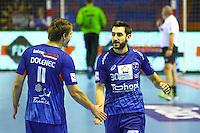 Dragan Gajic / Jure Dolenec - 05.03.2015 - Montpellier / Cesson Rennes - 17eme journee de Division 1<br />Photo : Andre Delon / Icon Sport