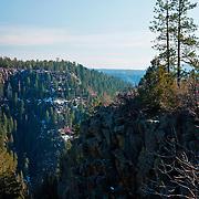 Cliff overlooking Oak Creek Canyon - AZ