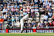 Hardik Pandya of India bowling during the first day of the 4th SpecSavers International Test Match 2018 match between England and India at the Ageas Bowl, Southampton, United Kingdom on 30 August 2018.