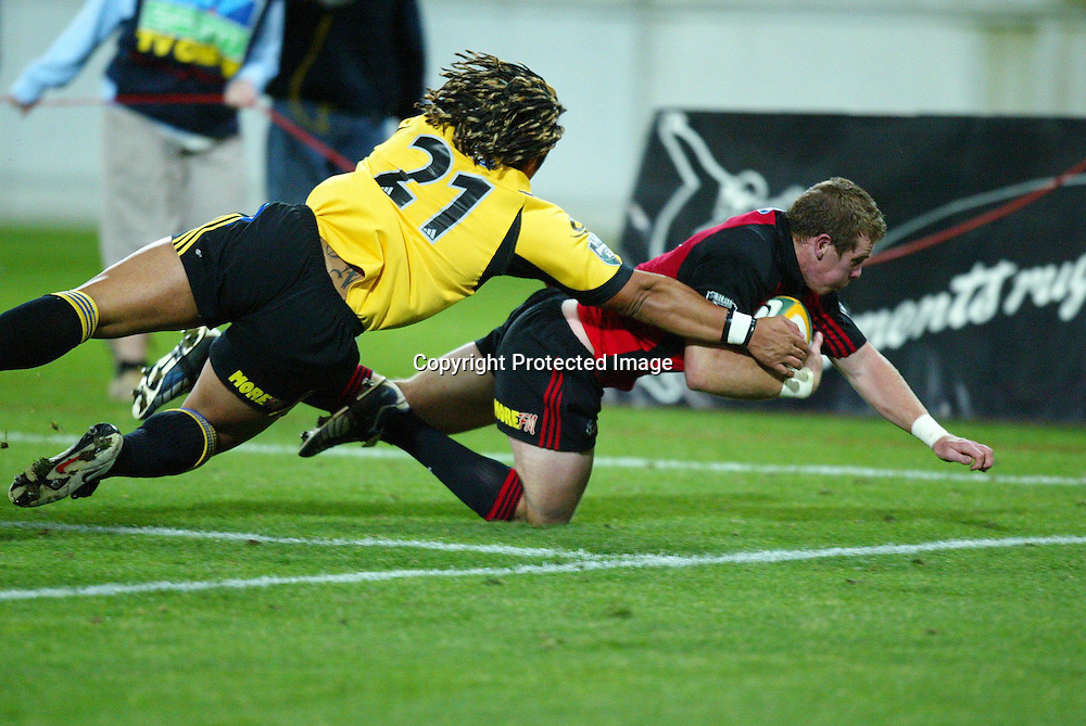 07 May 2004, Rugby Union. Super 12, Westpac Stadium, Wellington, New Zealand. <br /> Hurricanes vs Crusaders.<br /> Jamie Nutbrown.<br /> The Hurricane's won the match 37 - 20.<br /> Please Credit: Photosport