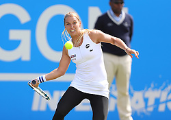 Dominika Cibulkova of Slovakia in action during the final of Aegon International Eastbourne tournament - Mandatory by-line: Paul Terry/JMP - 25/06/2016 - TENNIS - Devonshire Park - Eastbourne, United Kingdom - Dominika Cibulkova v Karolina Pliskova - Aegon International Eastbourne