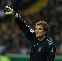 FRANKFURT, GERMANY - Wednesday, November 21, 2007: Germany's goalkeeper Jens Lehmann during the final UEFA Euro 2008 Qualifying Group D match at the Commerzbank Arena. (Pic by David Rawcliffe/Propaganda)