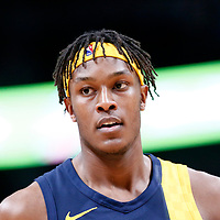 03 April 2018: Indiana Pacers center Myles Turner (33) is seen during the Denver Nuggets 107-104 victory over the Indiana Pacers, at the Pepsi Center, Denver, Colorado, USA.