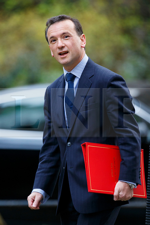 © Licensed to London News Pictures. 29/03/2017. London, UK. Welsh Secretary ALUN CAIRNS attends a cabinet meeting in Downing Street, London on Wednesday, 29 March 2017 as Prime Minister Theresa May triggers article 50 and starts Britain's departure from the European Union. Photo credit: Tolga Akmen/LNP