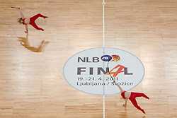 Cheerleader during final match of Basketball NLB League at Final Four tournament between KK Union Olimpija (SLO) and Partizan Belgrade (SRB), on April 21, 2011 at SRC Stozice, Ljubljana, Slovenia. (Photo By Matic Klansek Velej / Sportida.com)