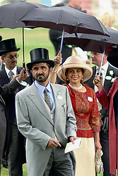 Undated photo of Dubai's ruler Sheikh Mohammed Bin Rashed Al Maktoum and his wife, Jordan's Princess Haya Bint Al Hussein, who is also president of the FEI (Federation Equestre Internationale). The younger wife of the ruler of Dubai, the billionaire race horse owner Sheikh Mohammed bin Rashid al-Maktoum, is believed to be staying in a town house near Kensington Palace after fleeing her marriage. Princess Haya bint al-Hussein, 45, has not been seen in public for weeks. One half of one of the sporting world's most celebrated couples, she failed to appear at Royal Ascot last month with her husband. Photo by Balkis Press/ABACAPRESS.COM