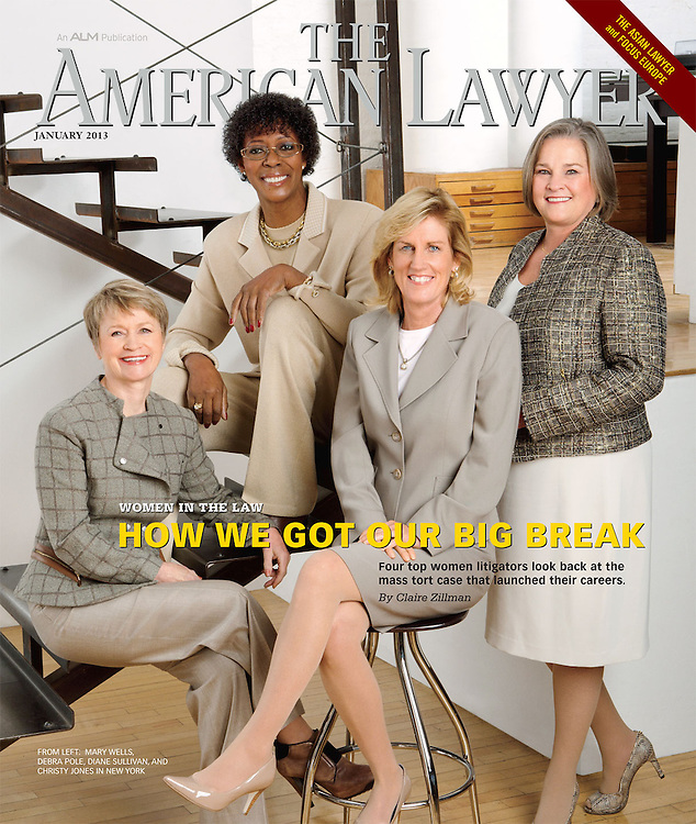 Editorial Cover Feature Story, Women Leaders in the Law for The American Lawyer by Michel Leroy PHOTOGRAPHER