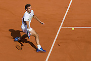 Paris, France. May 26th 2009. .Roland Garros - Tennis French Open. 1st Round..French player Julien Benneteau against Jo-Wilfried Tsonga