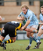 Wycombe, GREAT BRITAIN, Bristols, Scott LINKLATER, tackles by Wasps Nick ADAMS, during the Guinness Premiership match, London Wasps vs Bristol Rugby, played at the Adams Park Stadium, on Sat. 23rd Feb 2008.  [Mandatory Credit, Peter Spurrier/Intersport-images]
