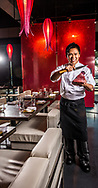 Chau is owner at chef at Sushi Pop in Oviedo, FL, February 28, 2013. Photo by Roberto Gonzalez