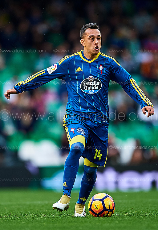 SEVILLE, SPAIN - DECEMBER 04:  Fabian Orellana of RC Celta de Vigo in action during La Liga match between Real Betis Balompie an RC Celta de Vigo at Benito Villamarin Stadium on December 4, 2016 in Seville, Spain.  (Photo by Aitor Alcalde Colomer/Getty Images)