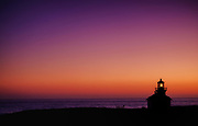 Point Cabrillo Light Station at dusk in Mendocino, CA.