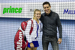 Nina Potocnik and Gregor Krusic at Tennis exhibition day and Slovenian Tennis personality of the year 2013 annual awards presented by Slovene Tennis Association TZS, on December 21, 2013 in BTC City, TC Millenium, Ljubljana, Slovenia.  Photo by Vid Ponikvar / Sportida