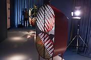 Credenza, a collection of forniture by Patricia Urquiola, Spanish designer, and Federico Pepe, Italian graphic designer, at Spazio Pontaccio, a design gallery in Milan, April 11, 2016. &copy; Carlo Cerchioli<br /> <br /> Credenza una collezione di mobili di Patricia Urquiola, designer spagnola, e Federico Pepe, grafico italiano, allo Spazio Pontaccio, galleria di design a Milano 11 parile, 2016.