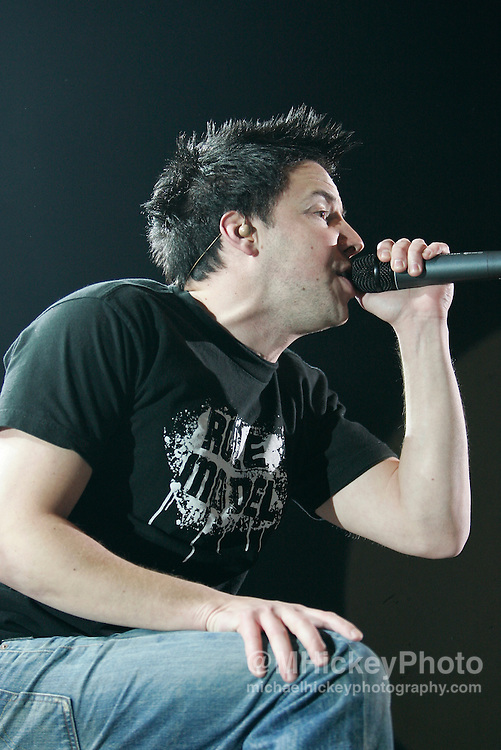 Simple Plan performs at RadioNow 93.1's Santa Slam at the Pepsi Coliseum in Indianapolis, IN on Dec 2, 2004. Photo by Michael Hickey