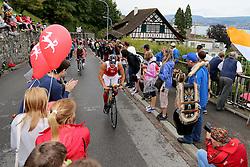 27.07.2014, Zürich, SUI, Ironman Zuerich 2014, im Bild Feature. Ein Fahrer im Heartbrake Hill // during the Zurich 2014 Ironman, Switzerland on 2014/07/27. EXPA Pictures © 2014, PhotoCredit: EXPA/ Freshfocus/ Claude Diderich<br /> <br /> *****ATTENTION - for AUT, SLO, CRO, SRB, BIH, MAZ only*****