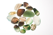 Assortment of green Gemstones