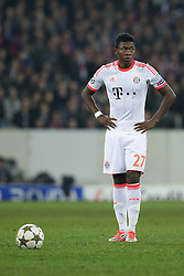 23.10.2012, Grand Stade Lille Metropole, Lille, OSC Lille vs FC Bayern Muenchen, im Bild David ALABA (FC Bayern Muenchen - 27) Freisteller // during UEFA Championsleague Match between Lille OSC and FC Bayern Munich at the Grand Stade Lille Metropole, Lille, France on 2012/10/23. EXPA Pictures © 2012, PhotoCredit: EXPA/ Eibner/ Gerry Schmit..***** ATTENTION - OUT OF GER *****