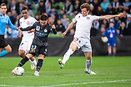 Melbourne City forward Bruno Fornaroli (23) goes for a shot at goal at the FFA Cup quarter-final soccer match between Melbourne City FC and Western Sydney Wanderers FC at AAMI Park in Melbourne.