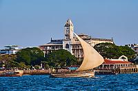 Tanzanie, archipel de Zanzibar, ile de Unguja (Zanzibar), ville de Zanzibar, quartier Stone Town classe patrimoine mondial UNESCO, maison des merveilles // Tanzania, Zanzibar island, Unguja, Stone Town, unesco world heritage, house of Wonders