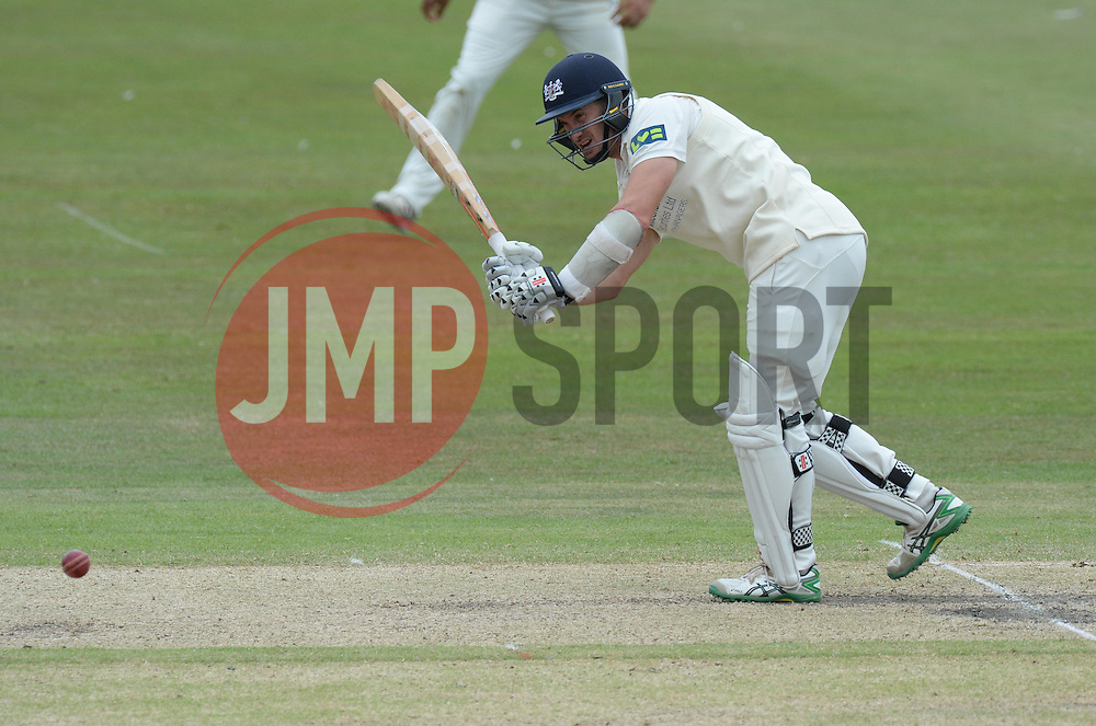 Gloucestershire's Michael Klinger hits  the ball. - Photo mandatory by-line: Alex James/JMP - Mobile: 07966 386802 - 17/07/2015 - SPORT - Cricket - Cheltenham - Cheltenham College - Gloucestershire v Leicestershire - LV=County Championship Division 2