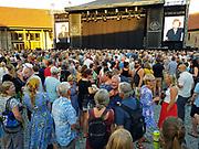 Konsert med Grace Jones (70) i Borggården under Olavsfestdagene i Trondheim, 31. juli 2018. (mobilbilder, mobile phone)