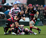Dragons' Charlie Davies gets the ball<br /> <br /> Photographer Simon King/Replay Images<br /> <br /> Guinness Pro14 Round 11 - Dragons v Cardiff Blues - Tuesday 26th December 2017 - Rodney Parade - Newport<br /> <br /> World Copyright © 2017 Replay Images. All rights reserved. info@replayimages.co.uk - www.replayimages.co.uk