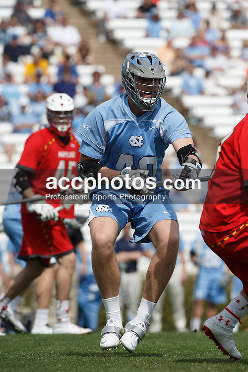 CHAPEL HILL, NC - MARCH 22: Jake Bailey #40 of the North Carolina Tar Heels during a game against the Maryland Terrapins on March 22, 2014 at Kenan Stadium in Chapel Hill, North Carolina. North Carolina won 11-8. (Photo by Peyton Williams/Inside Lacrosse)