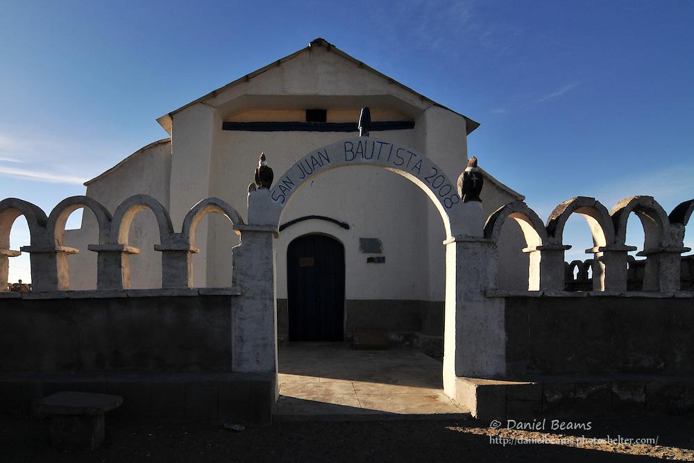 San Juan Bautista church in Tahua on the Salar de Uyuni, Bolivia