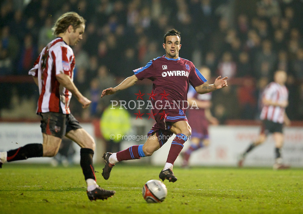LONDON, ENGLAND - Tuesday, February 22, 2011: Tranmere Rovers' Robbie Weir in action against Brentford during the Football League One match at Griffin Park. (Photo by David Rawcliffe/Propaganda)