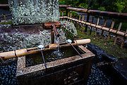 It is common for temples in Japan to have purification fountains such as this one at Tenryuji, Kyoto.