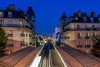 Pont Bir Hakeim bridge in the city of Paris in france