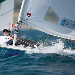 2012 Olympic Games London / Weymouth<br /> Racing day 1 Laser<br /> Laser RadialTURDonertas Cagla