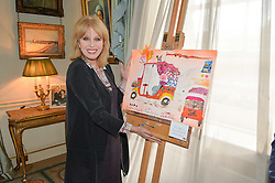 Thursday 26th March 2015, The Elephant Family charity and Quintessentially Foundation announced the launch of 'Travels To My Elephant' – a once-in-a-lifetime rickshaw race taking place in India in November 2015. The official launch of the venture took place at Clarence House at an exclusive reception hosted by TRH The Prince of Wales and The Duchess of Cornwall,  joint patrons of Elephant Family.<br /> Picture Show:-Joanna Lumley