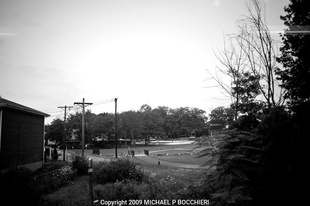 UNSPECIFIED, NJ - JUNE 25:  View from a window on a NJ Transit commuter train July 25, 2009 in UNSPECIFIED, NJ.  (Photo by Michael Bocchieri/Bocchieri Archive)